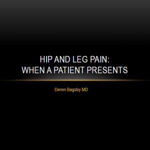 Hip and Leg Pain